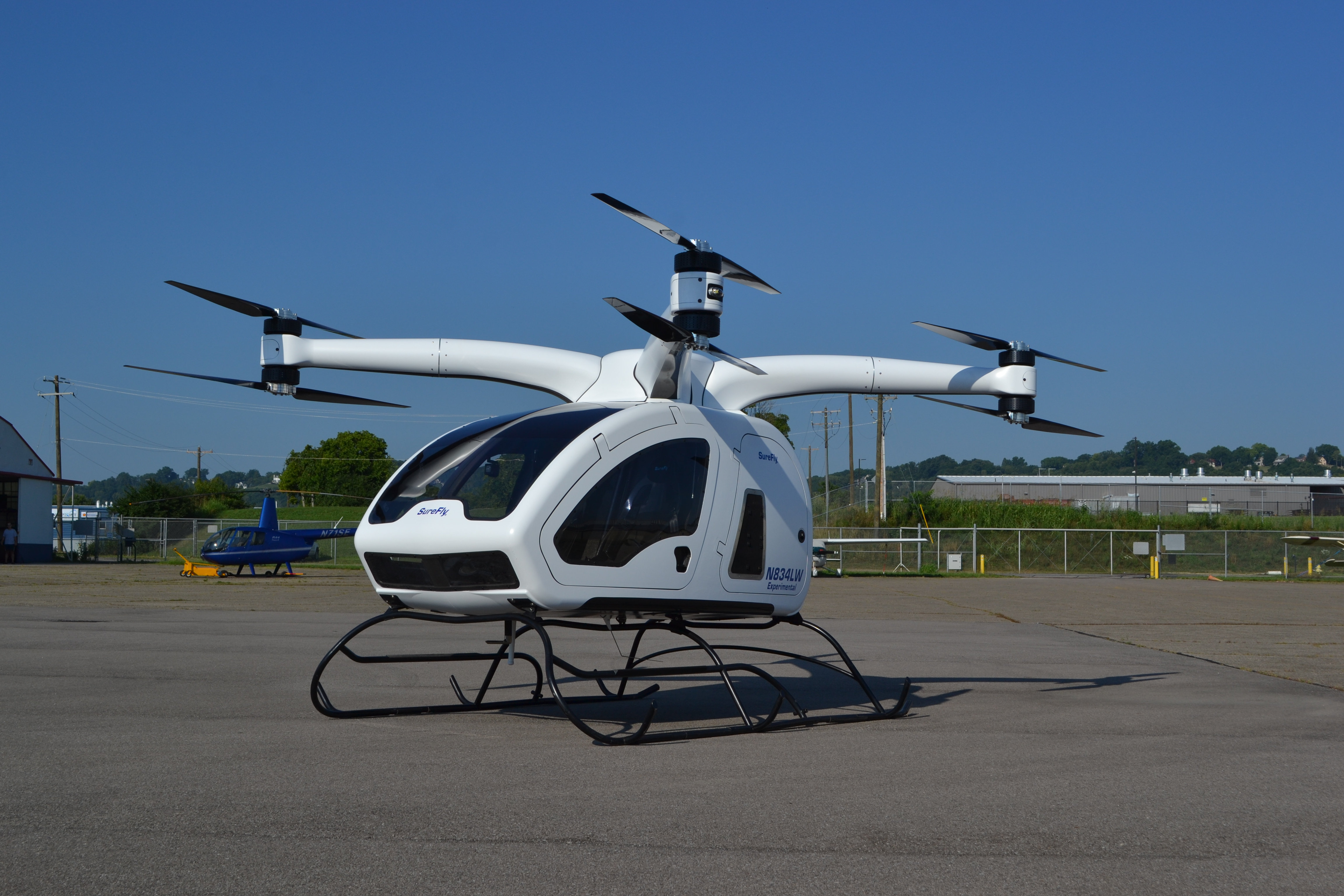 urban air taxi Workhorse SureFly left side