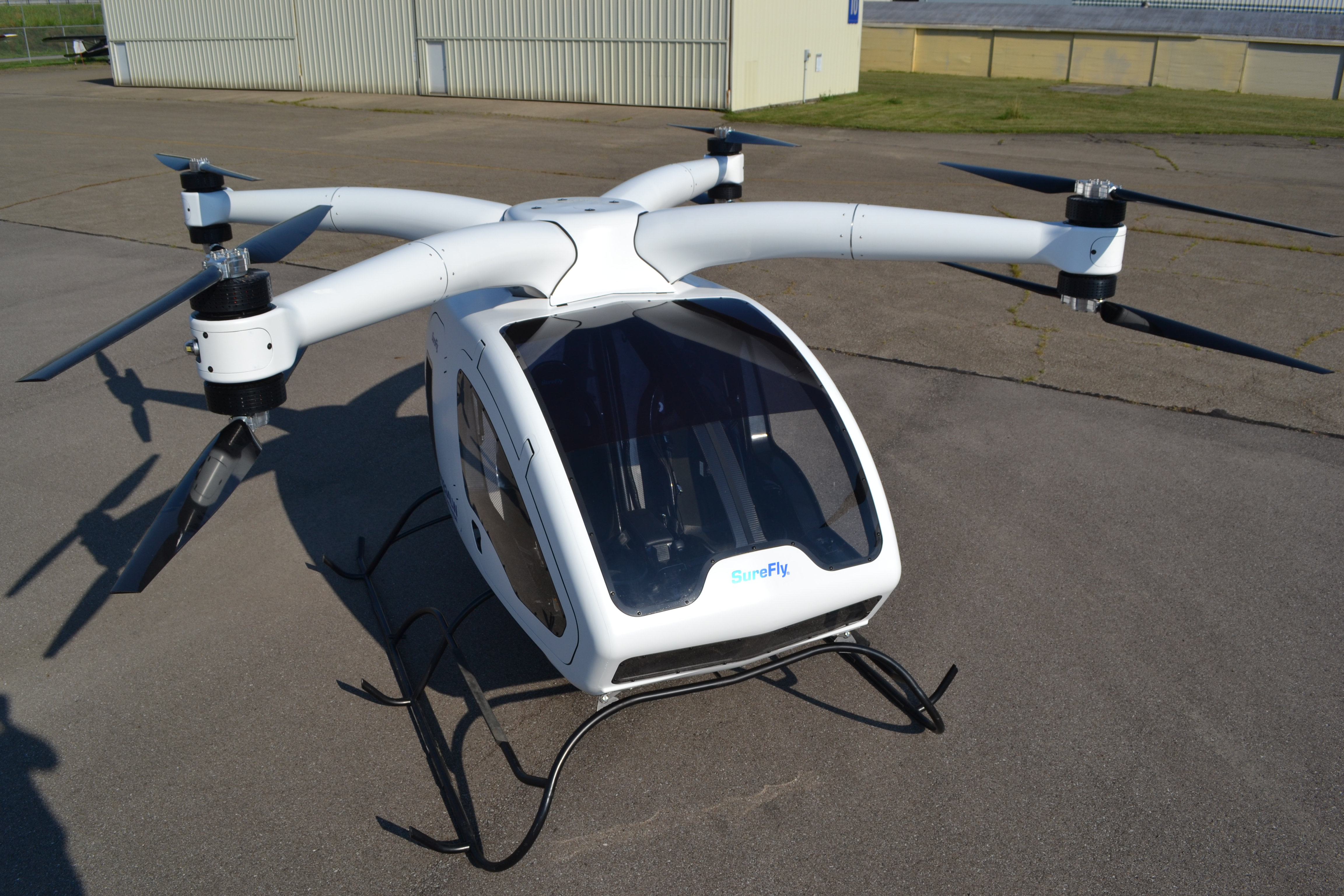 urban air taxi Workhorse SureFly Top Front