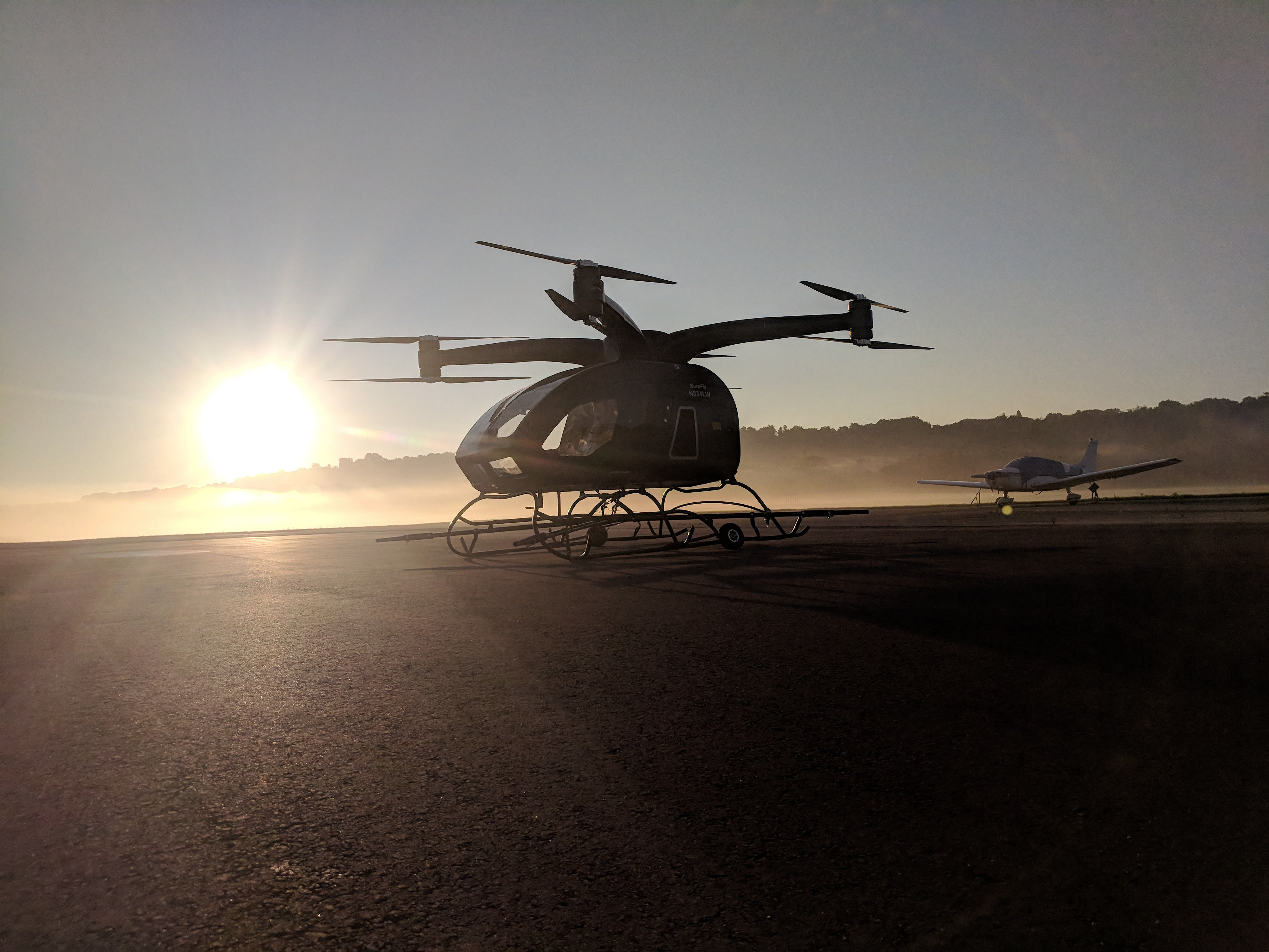 urban air taxi Workhorse SureFly Sunset